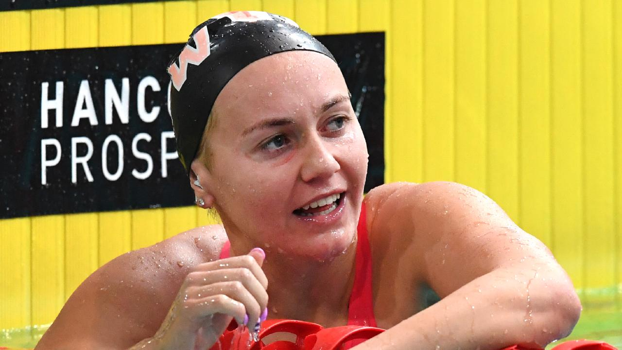 Ariarne Titmus has joined the Cali Condors in the International Swimming League. Picture: AAP