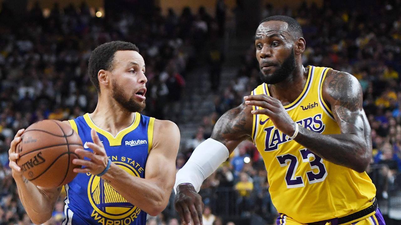 Stephen Curry and LeBron James. Picture: Ethan Miller/Getty Images