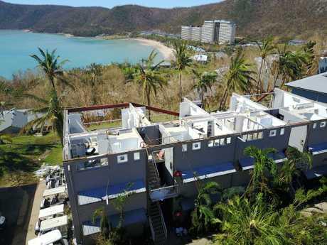 Damage from Cyclone Debbie on Hamilton Island