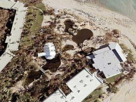 Daydream Island after Cyclone Debbie