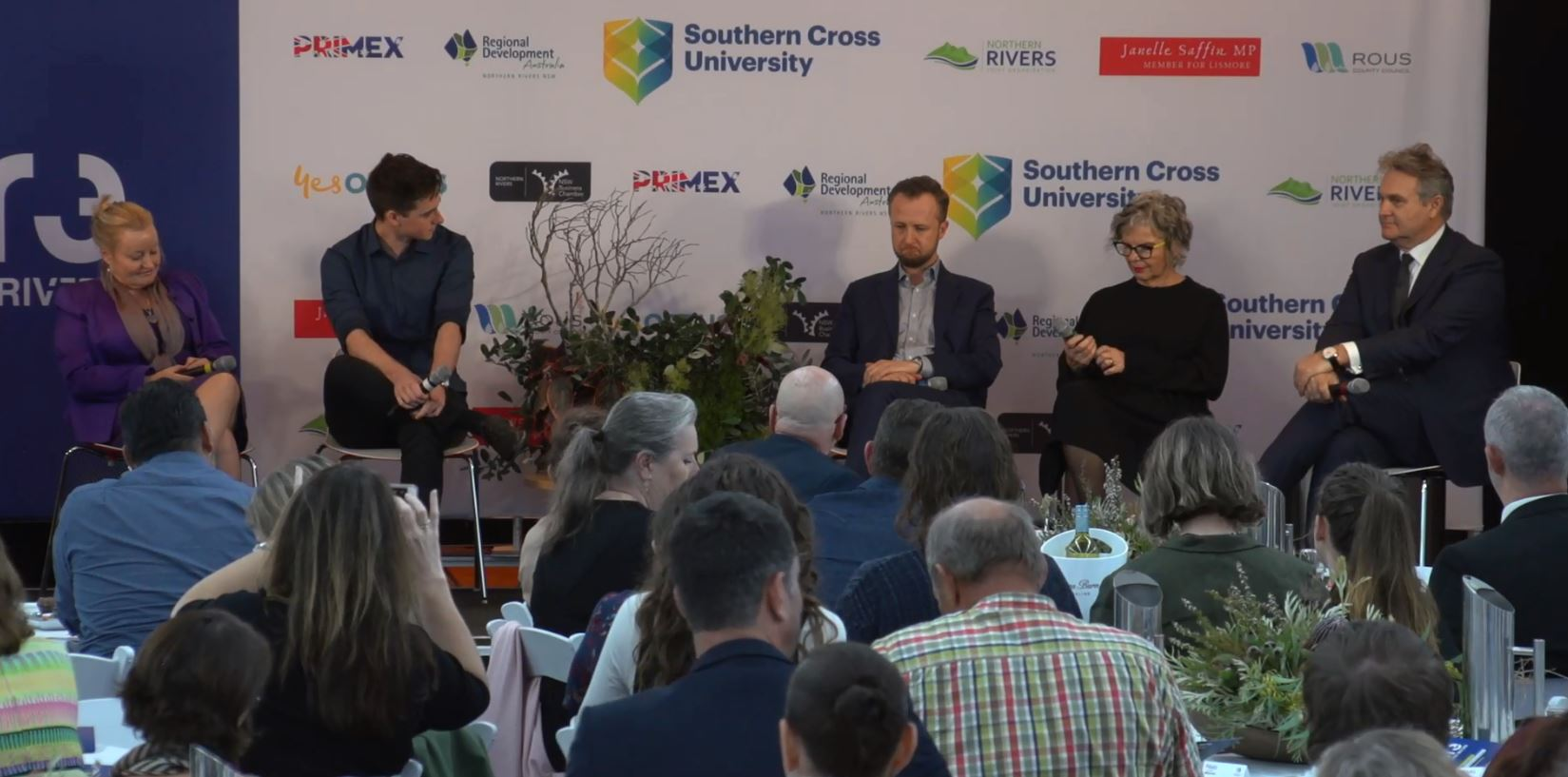 The panel of speakers at the Future Northern Rivers event.