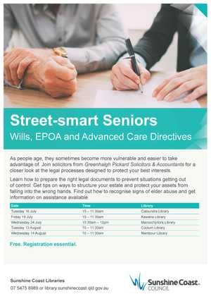 Wills, EPOA and Advanced Care Directives