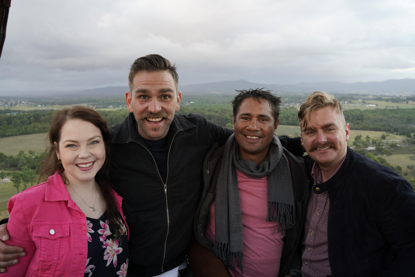 Comedian Harley Breen, second from left, returns in three new episodes of the TV series Taboo.