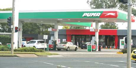 Ram raid at Puma service station on corner of Stephen St and Anzac Avenue. Wednesday, 12th June, 2019.