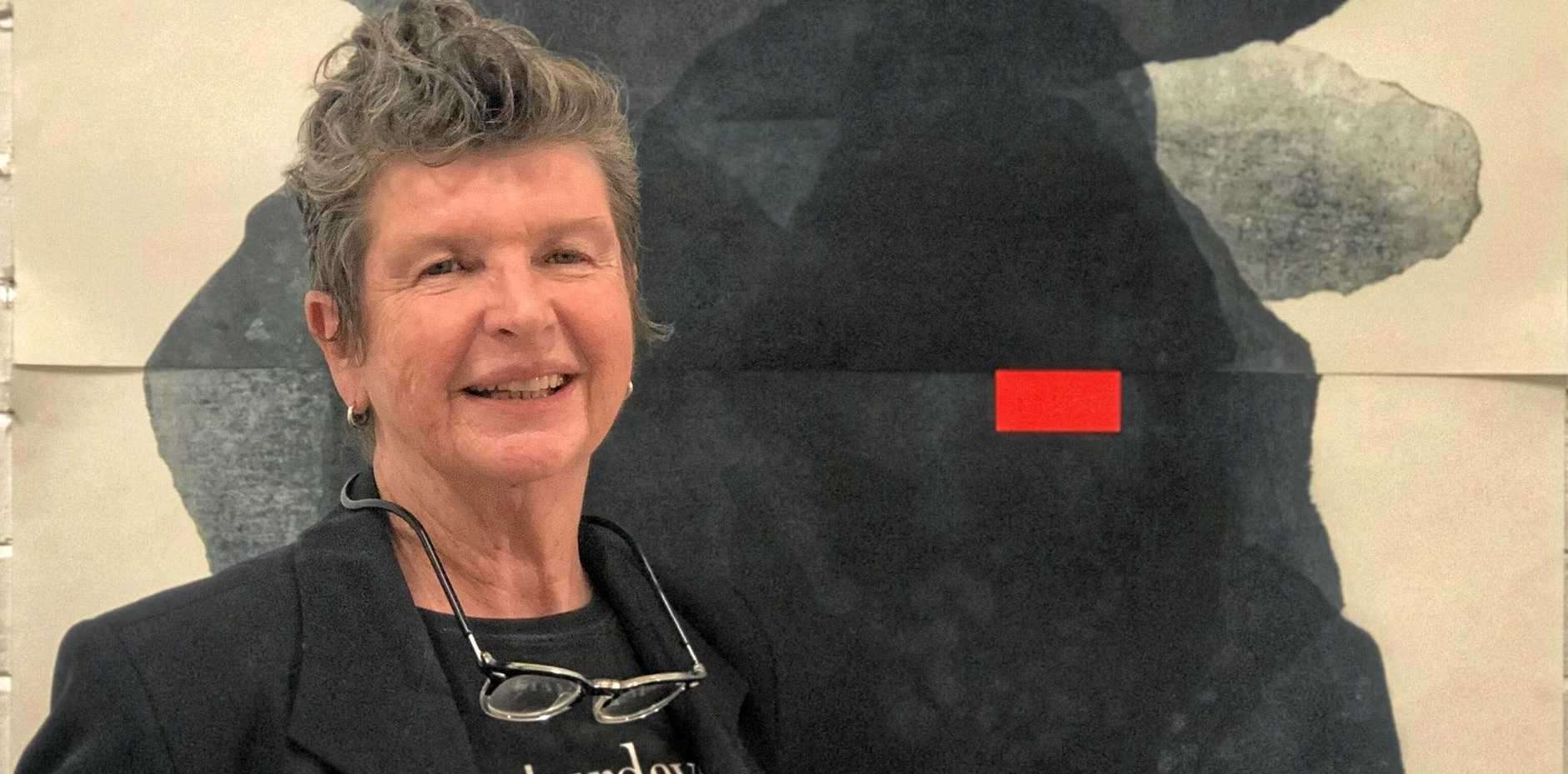 PROJECTOR: Director of Byron School of Art, Christine Willcocks.