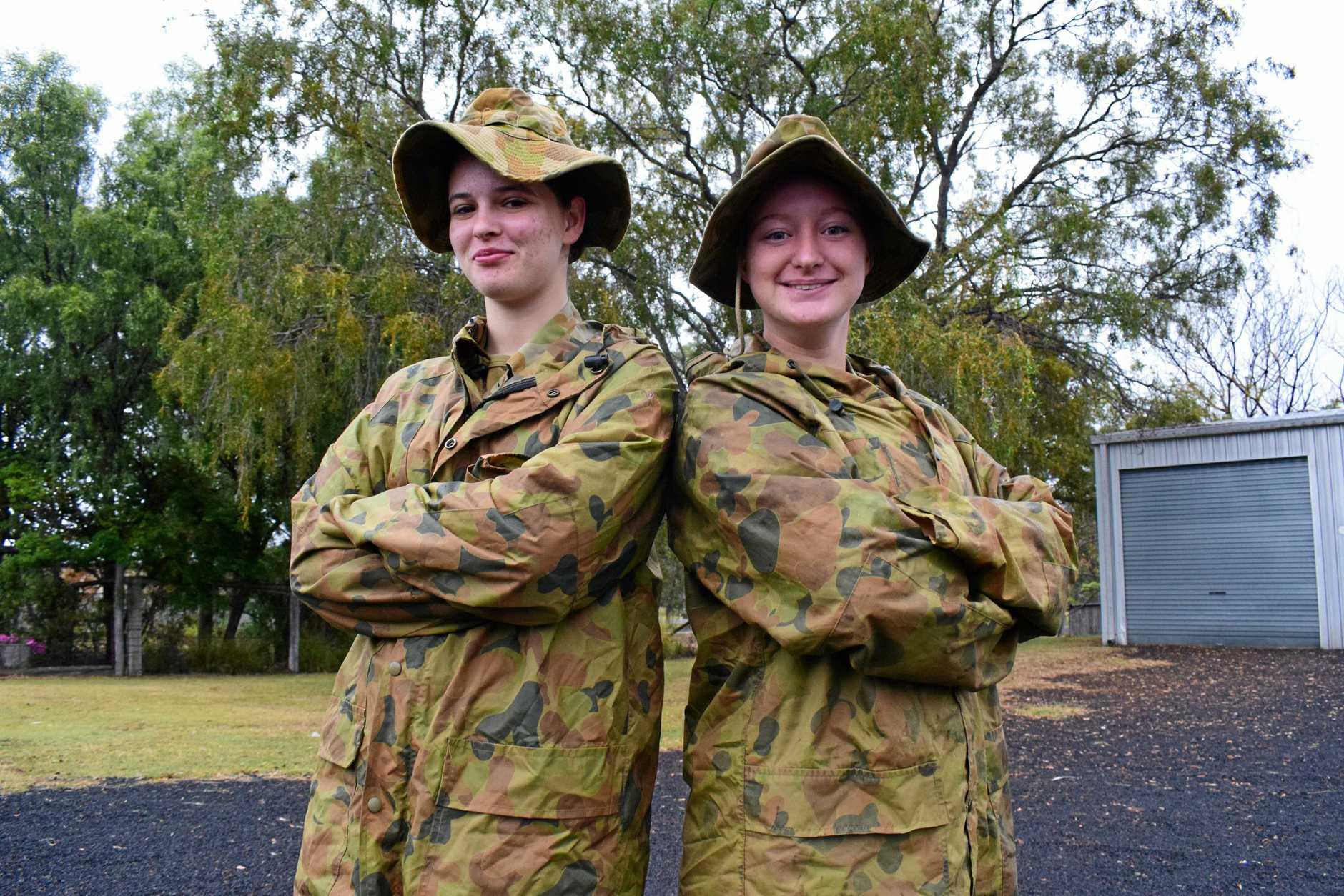 TOUGH STUFF: Chinchilla cadets, Corporal Tiarna Toynton and Sergeant Kiara Speirs.