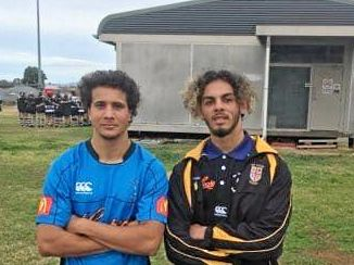 RARING TO GO: Peter Laurie and Barney Anderson representing the North Coast Colts in Tamworth last weekend.