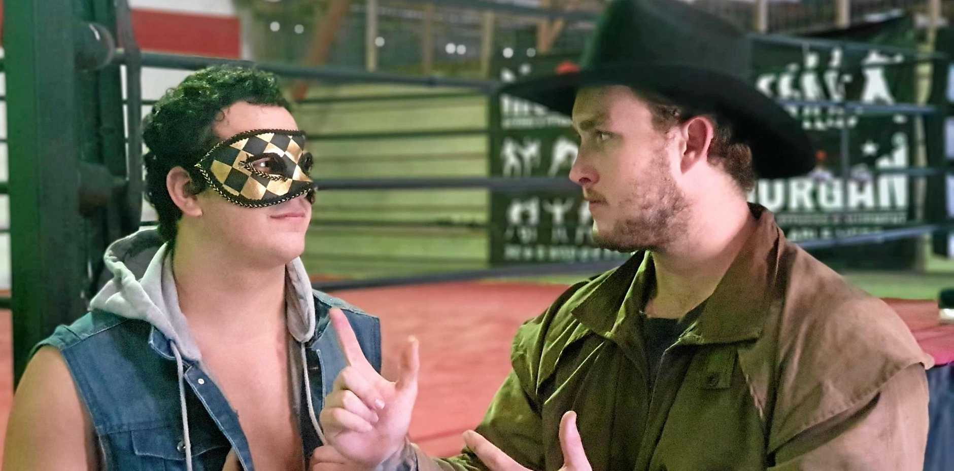READY TO RUMBLE: Wyatt Medlin, a.k.a Colt Winchester, will face off against Outeuse Law on Saturday from 6pm at the Rocky Sports Club.
