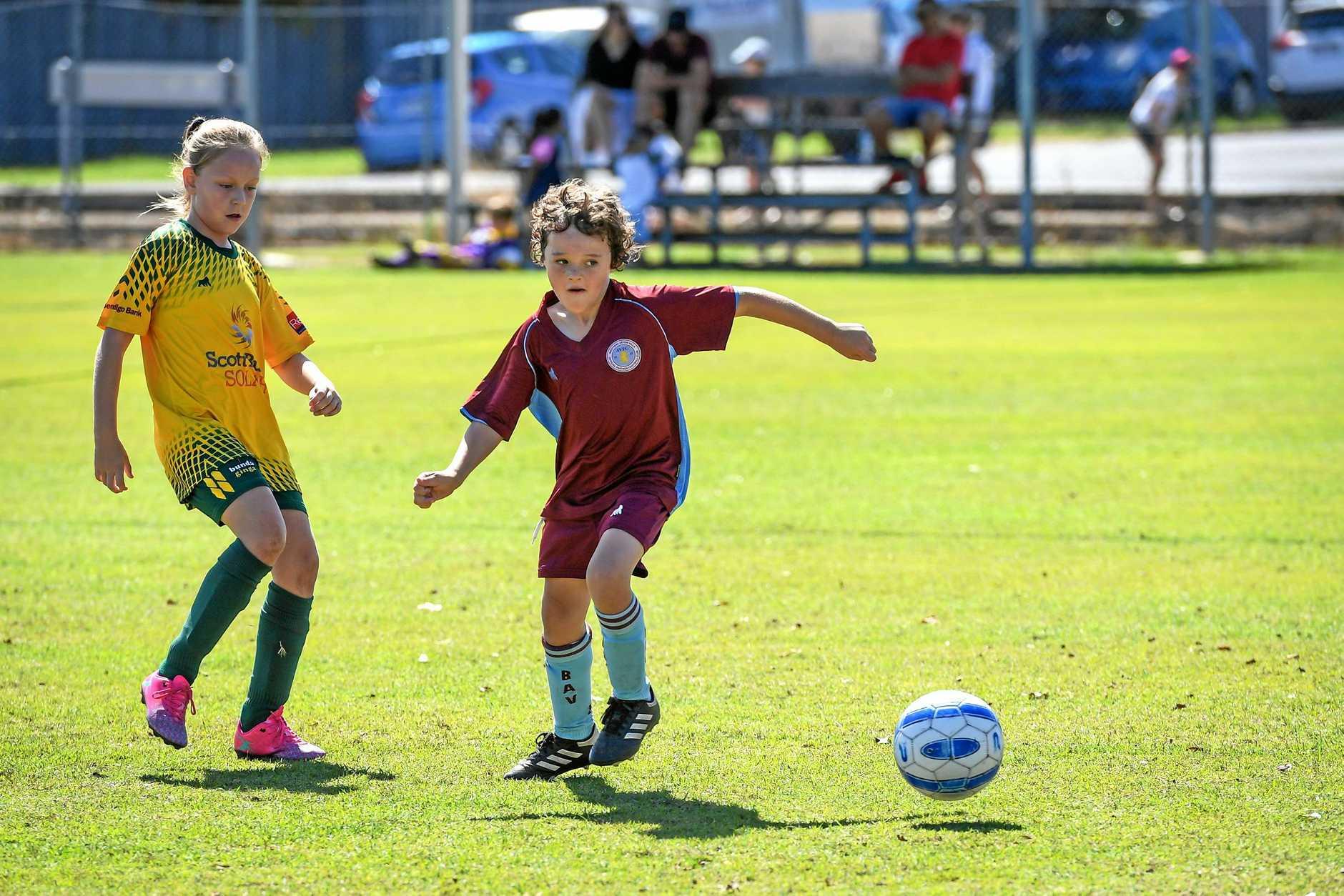PLAY: Brothers Aston Villa's Eli Jarick.