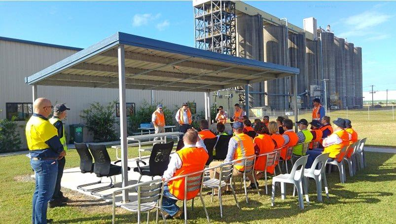 REDUCING COSTS: Producers and aspiring exporters are invited to register for a tour of Gladstone, Townsville and Mackay Ports. The group which took part last year is pictured.