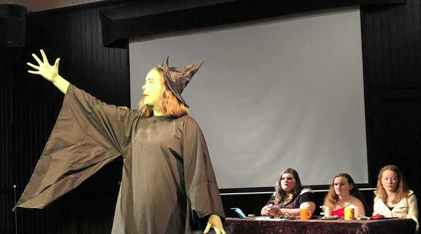 BIT WICKED: Witch, Naima Furness impresses the junior judges.