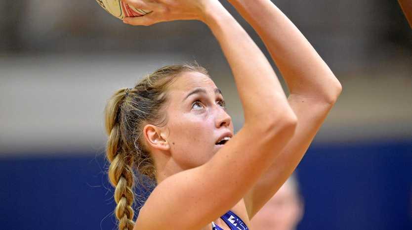 TRAINING HARD: Lightning goal shooter Cara Koenen.