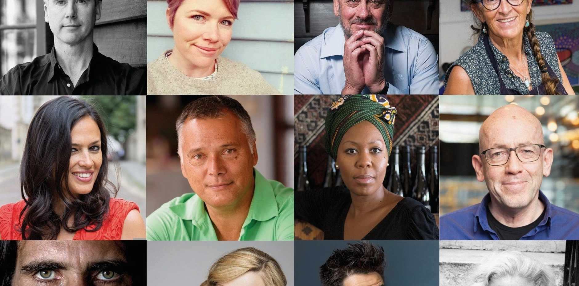 Some of the writers announced for this year's Byron Writers Festival.