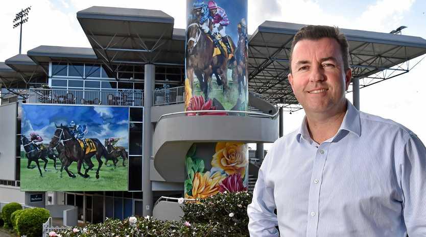 ART WORK: Sunshine Coast Turf Club CEO John Miller excited to showcase the new murals.