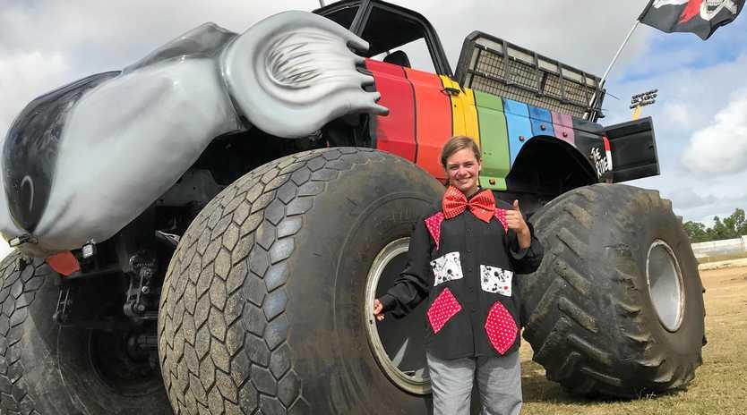 MONSTER PERFORMANCE: Stunt driver Alex Luber with the Koala monster truck.