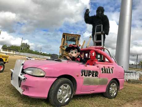The Super Sally clown car.