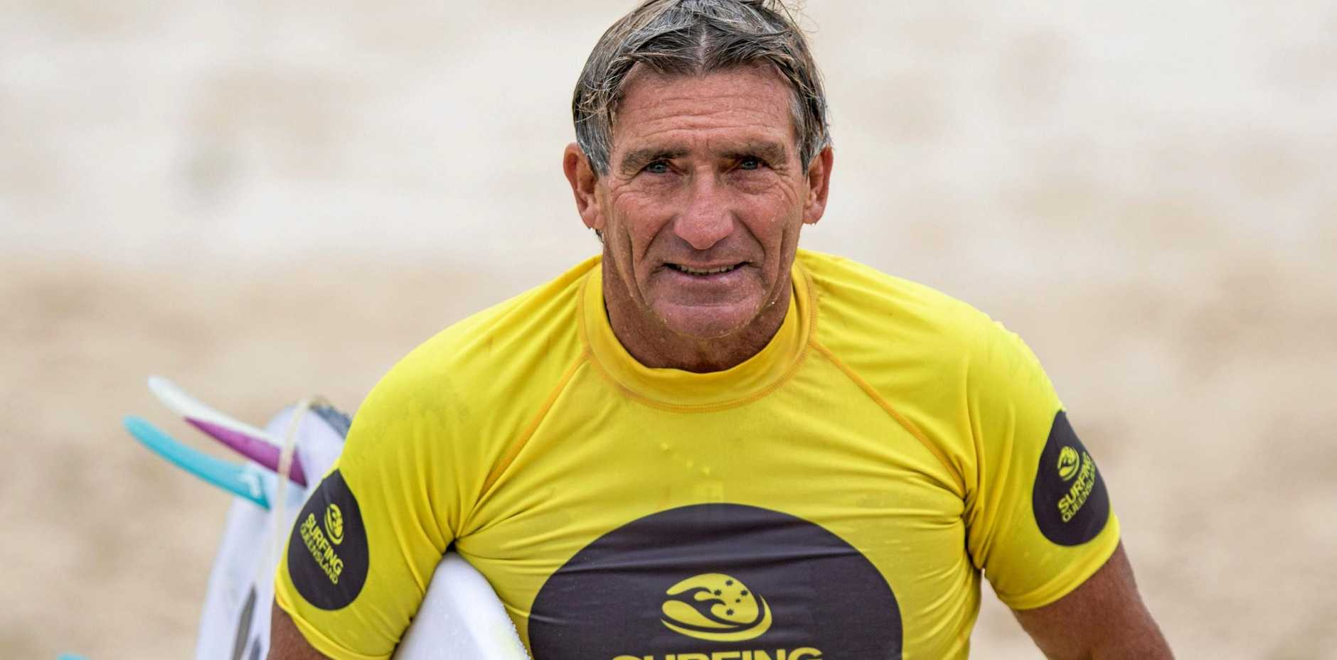 Bruce Dunne has won the over 60 men's Queensland surfing title and will now head to the national championships in August