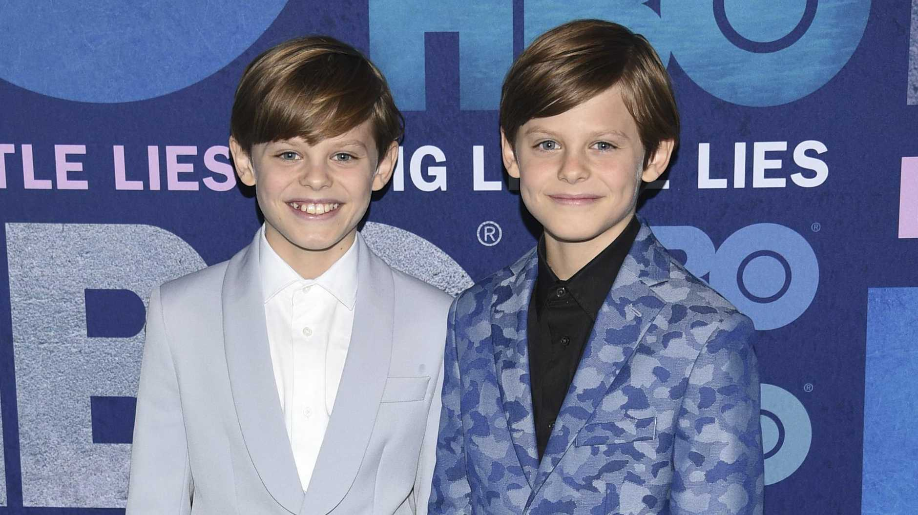 Nicholas Crovetti, left, and Cameron Crovetti attend the premiere of HBO's Big Little Lies season two in New York.