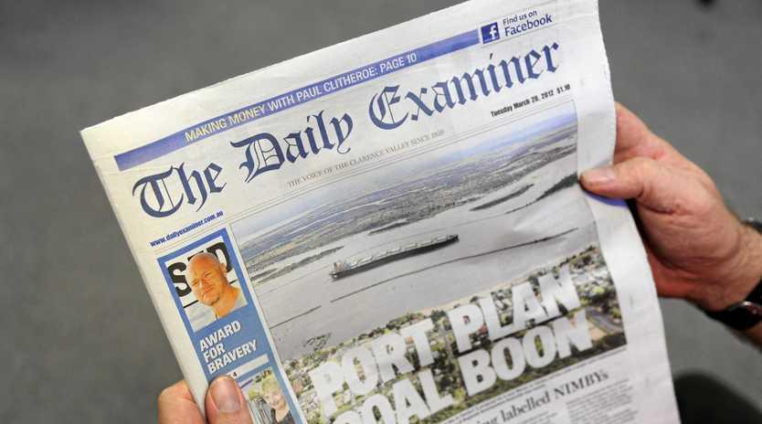The Daily Examiner newspaper Photo Adam Hourigan / The Daily Examiner