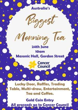 Australia's Biggest Morning Tea at Mount Morgan Masonic Hall.