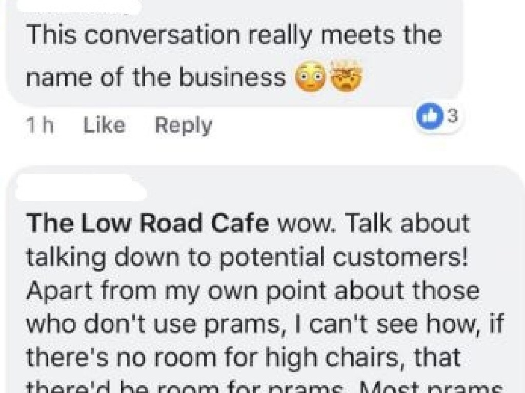 A post providing simple feedback at a cafe has exploded online after the business responded. Picture: Facebook