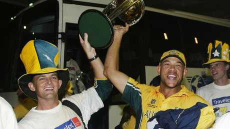 Australia went undefeated to the trophy, with Symonds an integral member.
