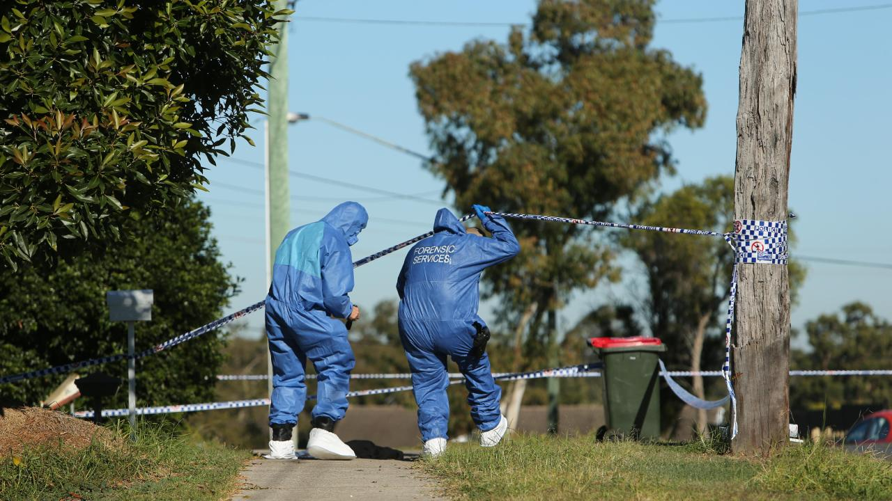 Forensic police investigate the attack on Constable Vella.