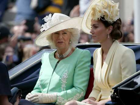 Kate seemed on edge during the Queen's annual birthday parade in London. Picture: Trevor Adams / matrixpictures.co.uk