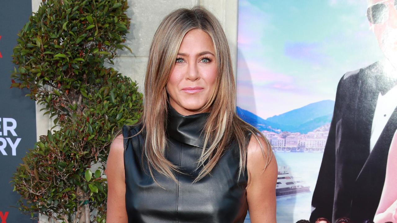 Aniston at the LA premiere of Netflix's Murder Mystery. Picture: Rich Fury/Getty Images