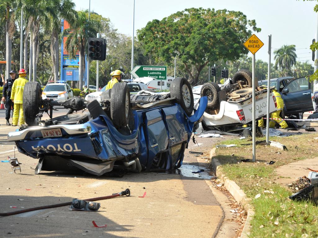 Lieutenant Scott Jarman was killed in this horror crash at the corner of the Stuart Highway and Woolner Rd five years ago today
