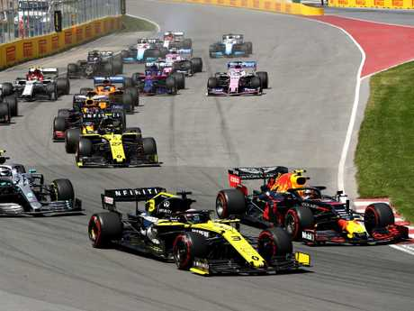 Daniel Ricciardo started fourth in Canada.