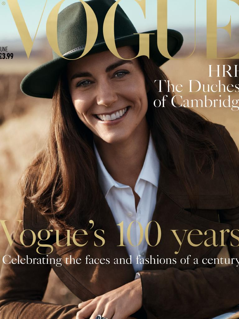 Kate, the Duchess of Cambridge, on the cover of Vogue in 2016. Picture: Conde Nast/Josh Olins