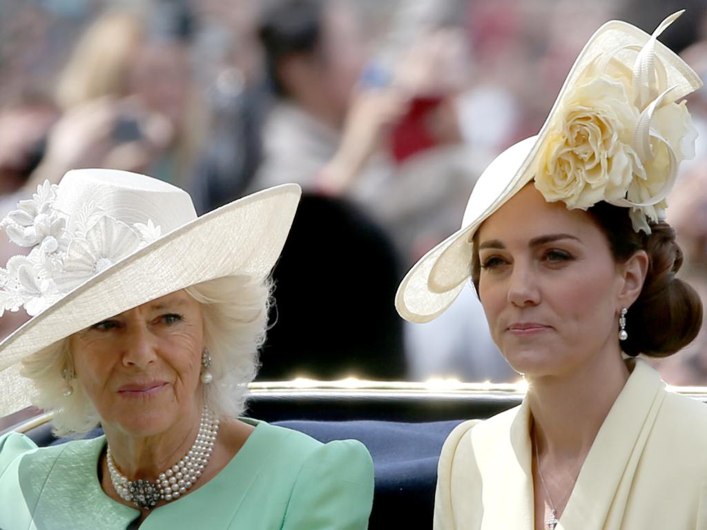 Her relaxed appearance was in stark contrast to her tense posture on Saturday as she attended the Trooping the Colour parade with Camilla and other royals. Picture: Trevor Adams / matrixpictures.co.uk