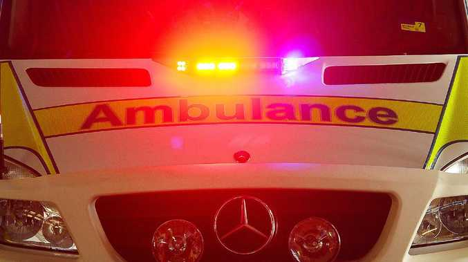 Person hospitalised after two-vehicle crash