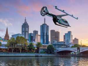 Flying cars preparing for take off in Australia