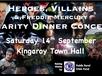 "The South Burnett Community Orchestra presents ""Heroes, Villains & Freddie Mercury"" Charity Dinner Concert, raising money for QCWA Public Rural Crisis Fund."