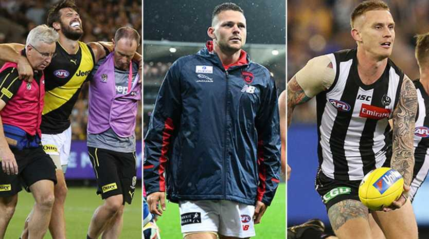 AFL's injury ladder revealed for 2019.