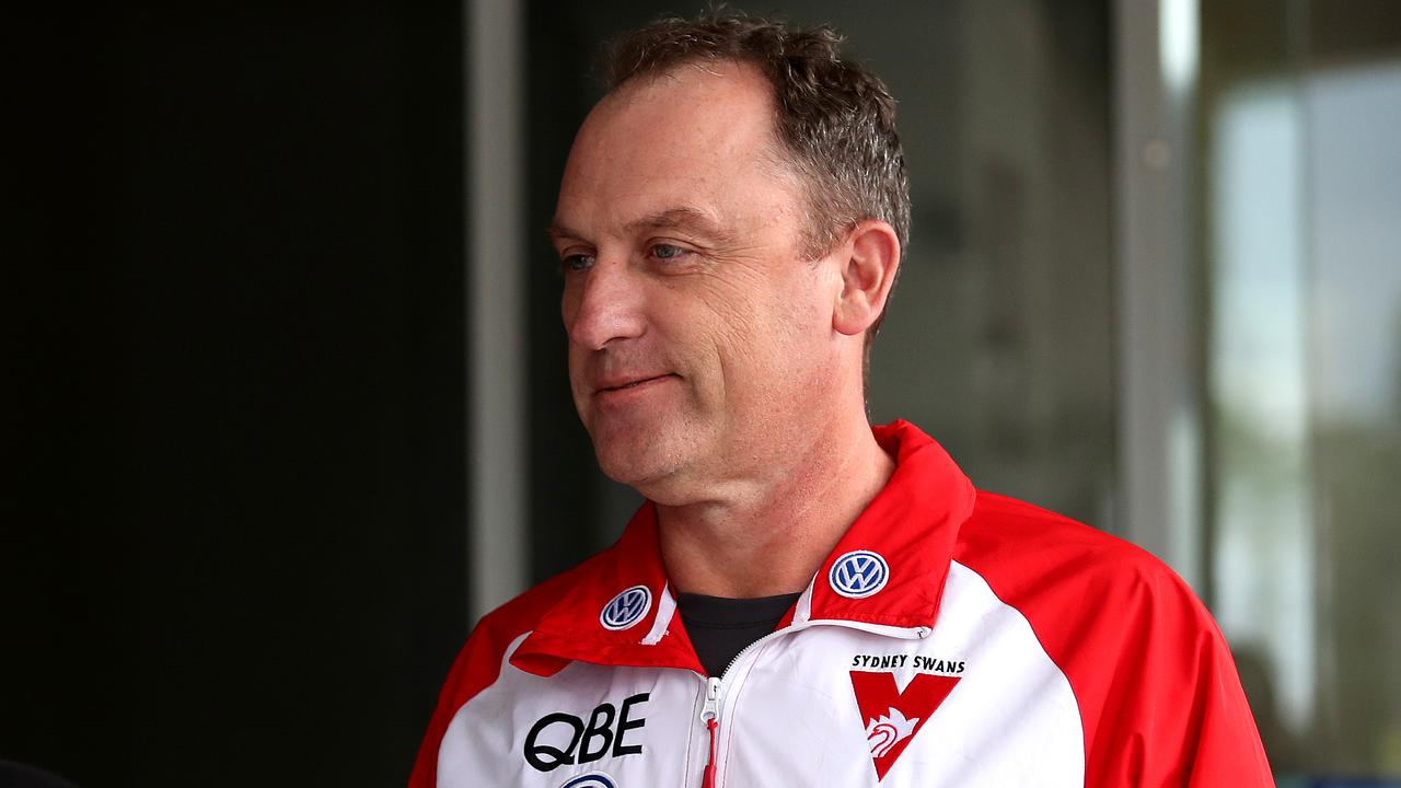 John Longmire is set to stay with the Swans. Picture. Phil Hillyard