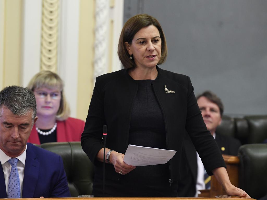 Queensland Opposition Leader Deb Frecklington Frecklington will commit to a 10-year royalties freeze as well as an overhaul of the environmental approvals process for mine applications. Picture: AAP Image/Dave Hunt