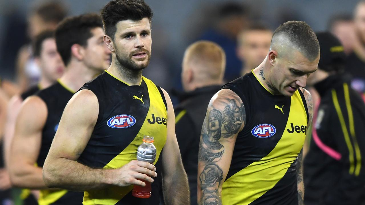 Trent Cotchin will miss the clash against Adelaide with a hamstring problem.