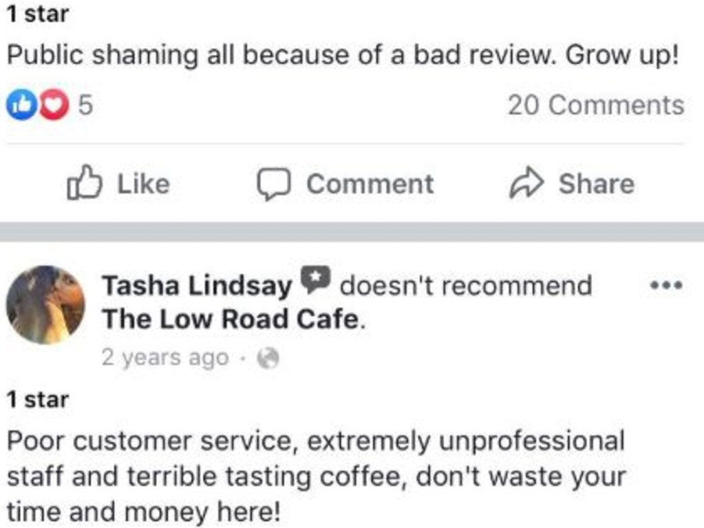 One of a number of complaints referencing treatment by the cafe over the years. Picture: Facebook