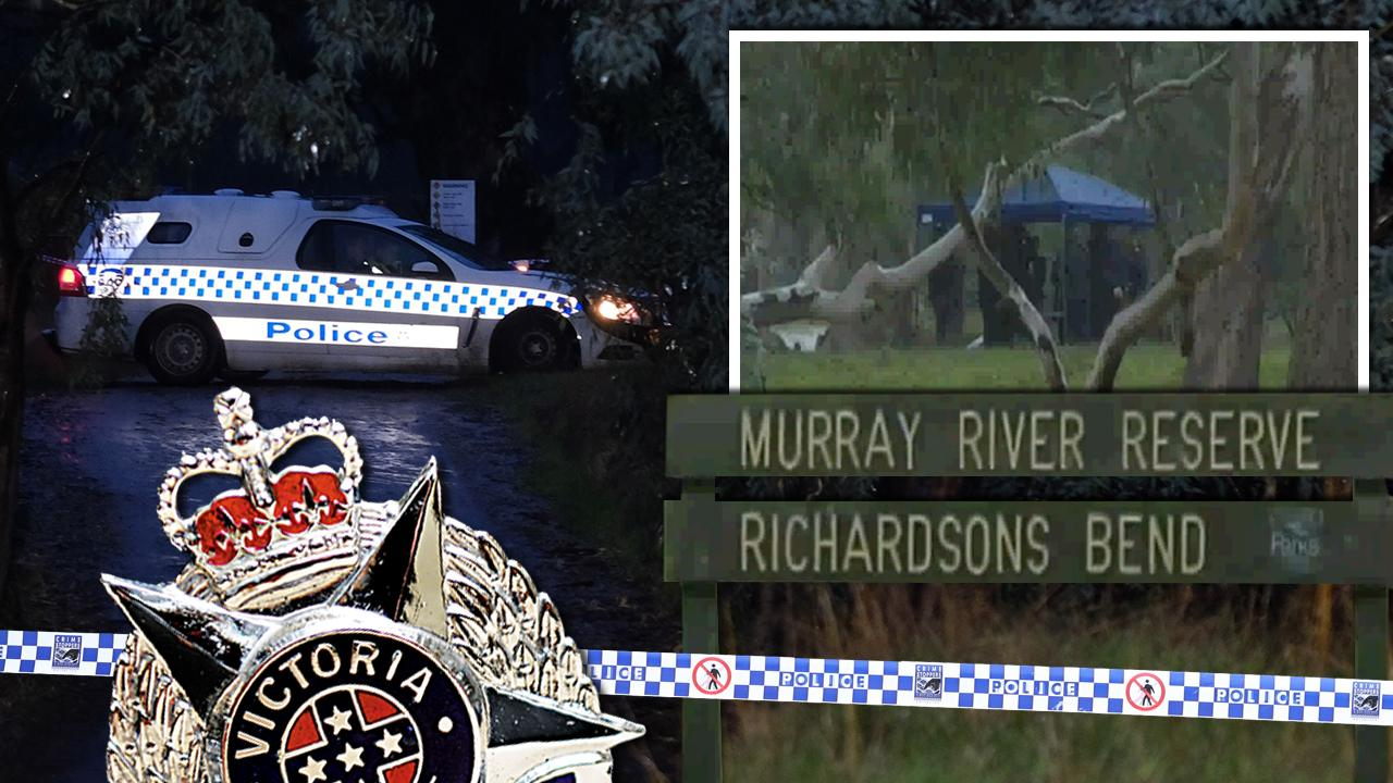 Police have shot two men at a Murray River campground.