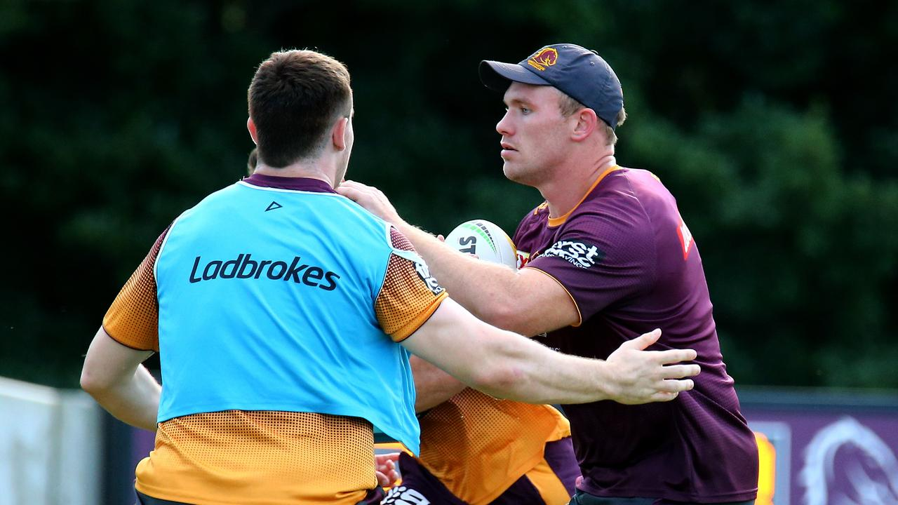 Lodge during training ahead of clash with Parramatta Eels. Photo: David Clark/ AAP Image