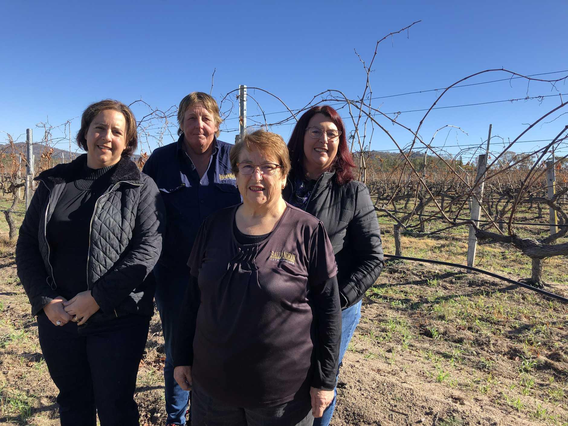 Women in wine at Ballandean Estate (from left) Robyn Puglisi-Henderson, Robyn Robertson, Leeanne Puglisi-Gangemi and Mary Puglisi.