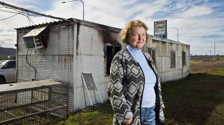 Zimms corner service station. Owner Olga Marr outside the building broken into and set alight . Thursday, 13th Jun, 2019.