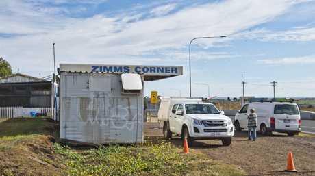 Olga Marr's Zimms corner service station. Building broken into and set alight . Thursday, 13th Jun, 2019.