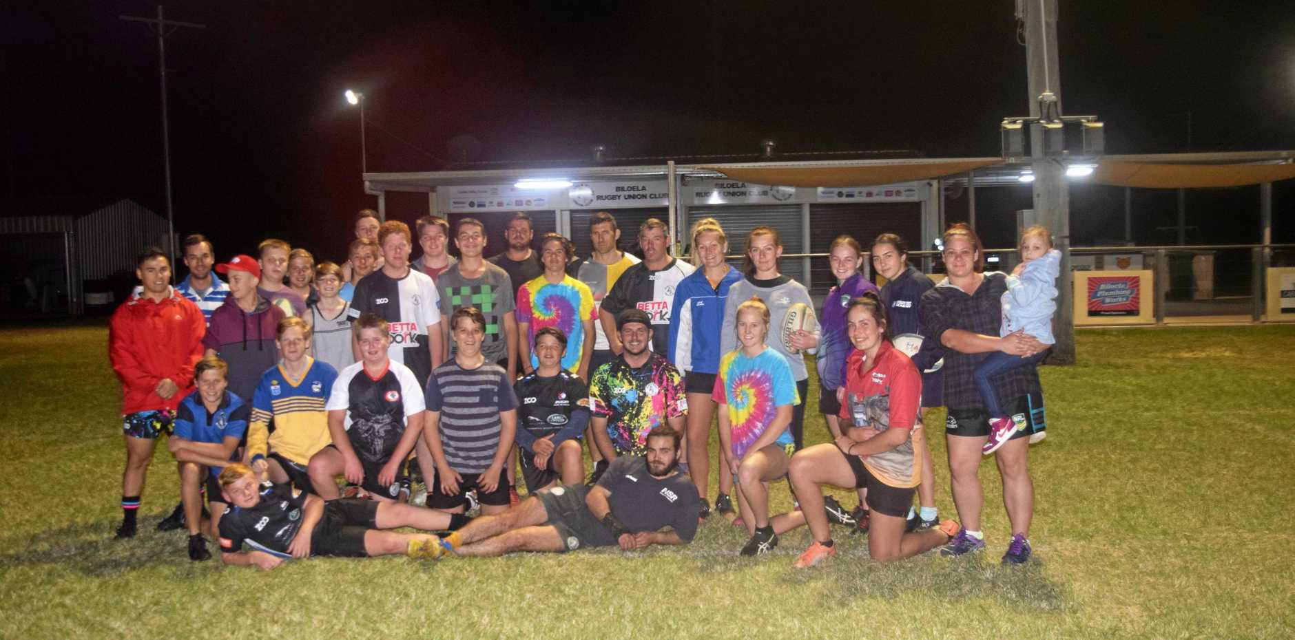 PRESENT & FUTURE: Members of the U14s, Ladies and Seniors squads represent the coming years of Biloela Rugby.