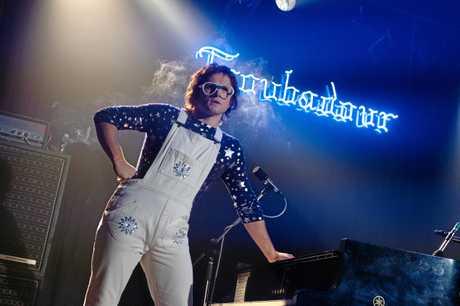 BLOCKBUSTER: Taron Egerton as Elton John in a scene from the movie Rocketman.