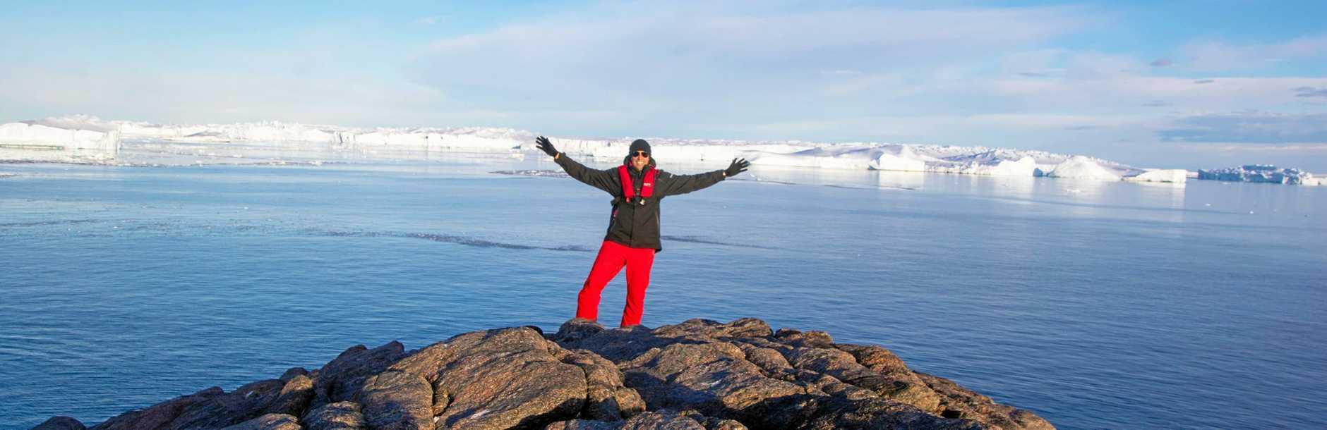 Chad Carey in Antarctica.
