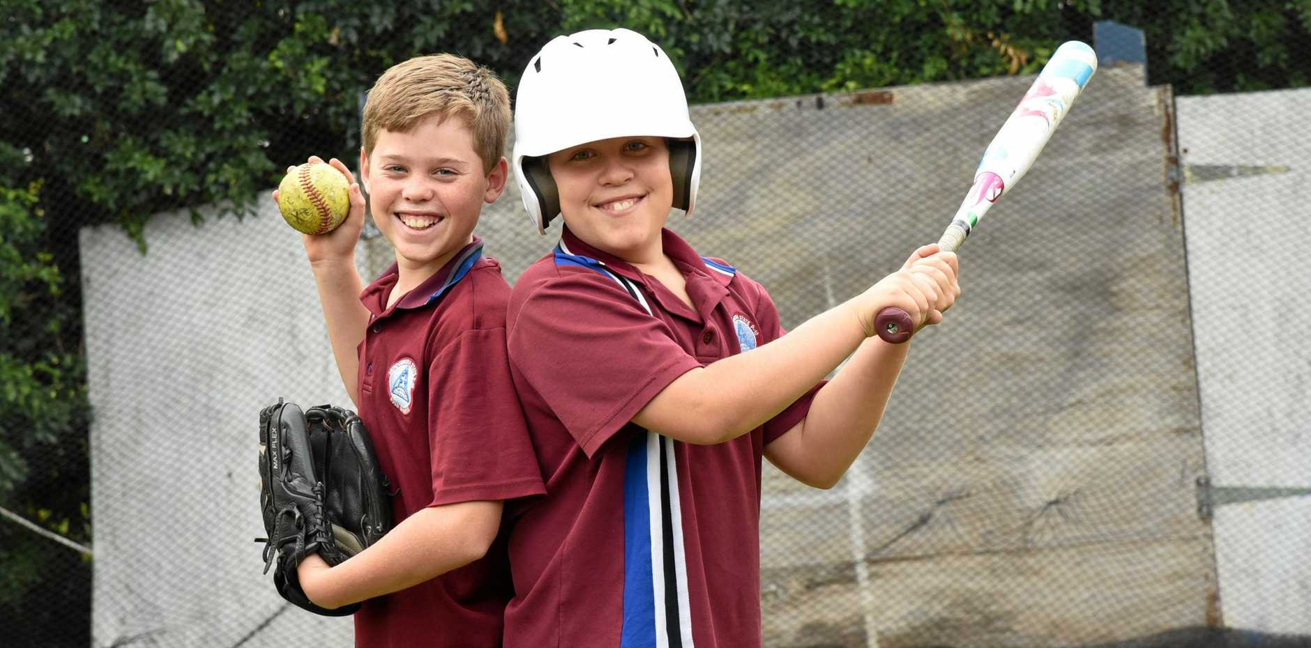 Mundubbera twins Jayden and Nate Pashley will represent Wide Bay at the softball State Championships in Mackay in September.